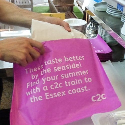 C2C Trains Takeaway Fish & Chip Bag Advertising