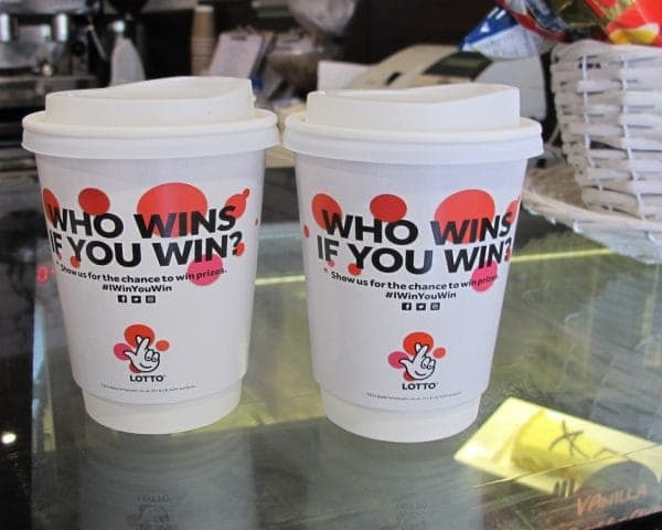 Lotto Coffee Cup Advertising