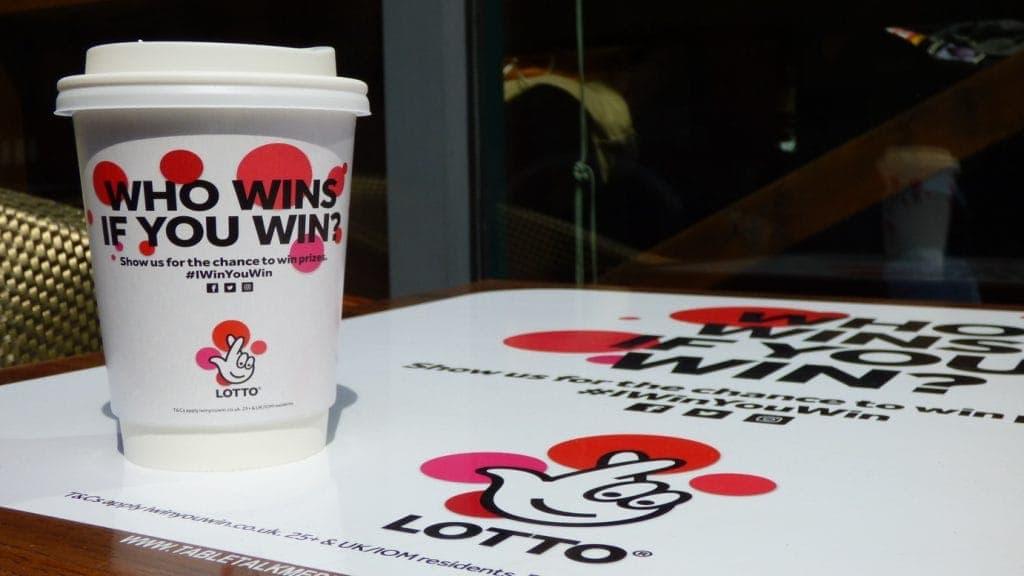 Lotto Tablewrap & Coffee Cup Advertising