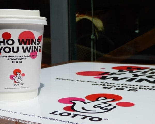 Lotto Tablewrap & Coffee Cup Advertising