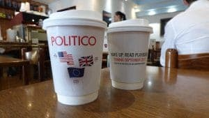 Politico Coffee Cup Advertising
