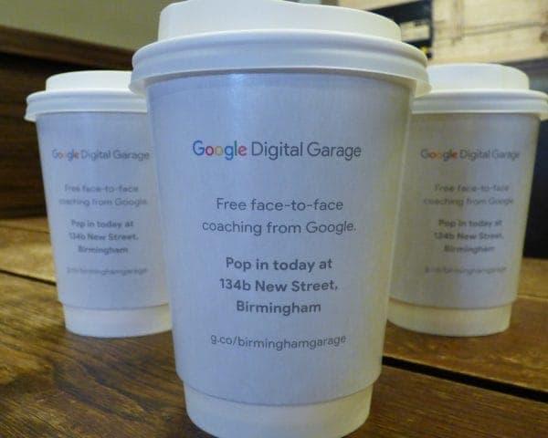 Google Digital Garage Coffee Cup Advertising