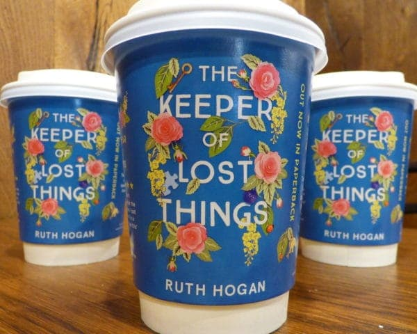 Ruth Hogan Hodder Coffee Cup Advertising