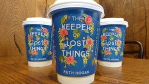 Ruth Hogan Hodder Coffee Cup Advertising