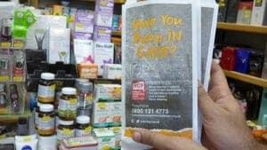 National Confidential Forum Pharmacy Bag Advertising
