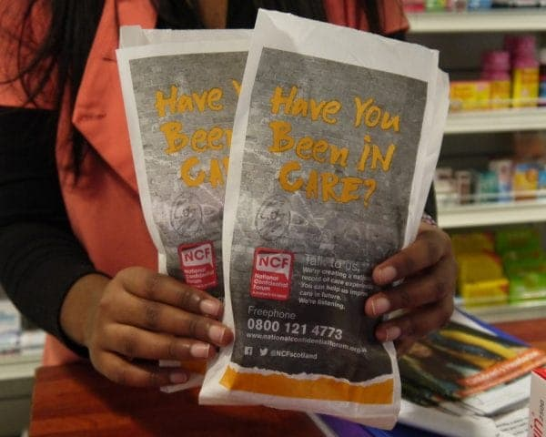 National Confidential Forum Pharmacy Bag Advertising