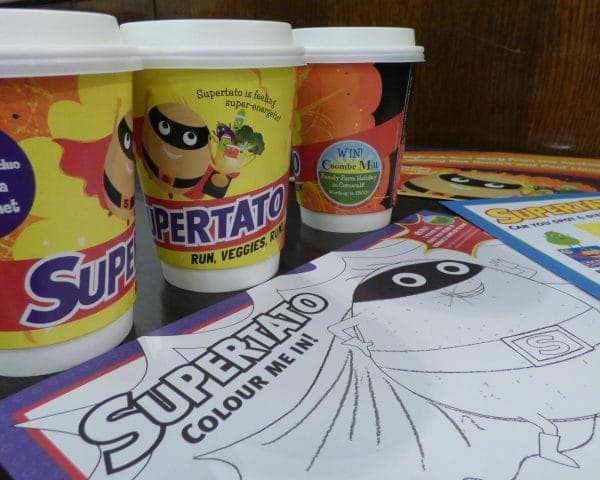 Simon & Schuster Supertato Coffee Cup Advertising