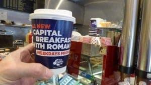 Capital FM Roman Kemp Breakfast Show Coffee Cups