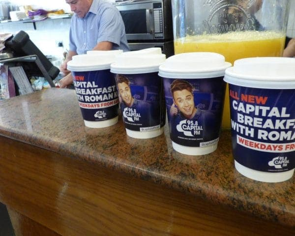 Capital FM Coffee Cup Advertising Campaign