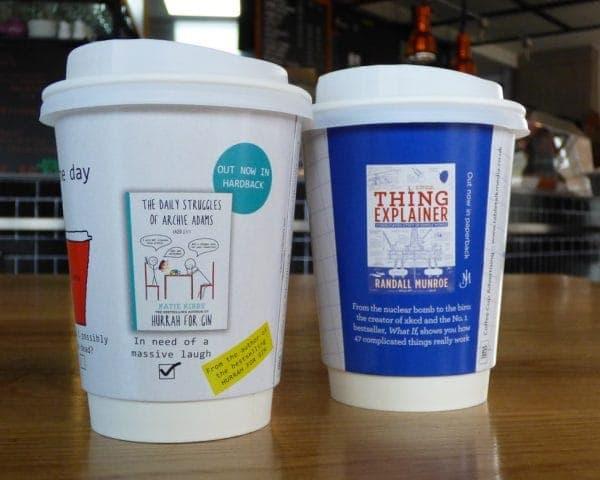 Hodder Cheltenham Literary Festival Coffee Cup Advertising