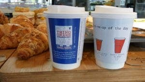 Hodder Cheltenham Literary Festival Coffee Cup Promotion