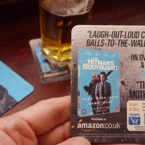 Lionsgate Beer Mat Advertising