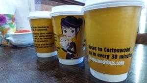 Stagecoach Yorkshire Coffee Cup Advertising