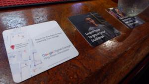 Google Digital Garage Beer Mat Advertising
