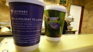Journey Latin America Coffee Cup Advertising