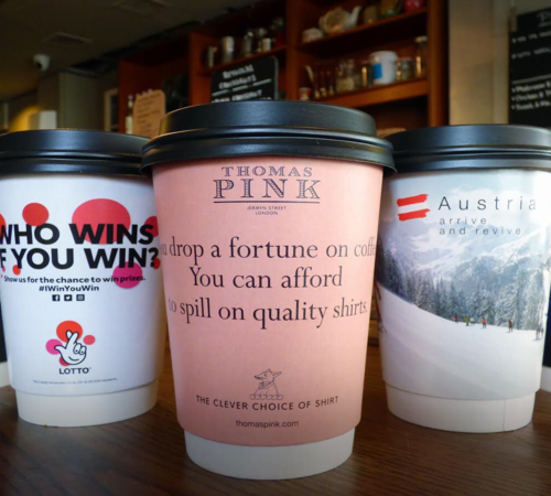 Coffee Cup Advertising Tabletalk Media