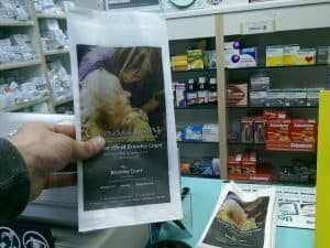 Carebase pharmacy bag advertising