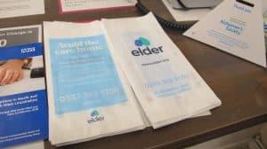 Elder Live-In Care pharmacy bag advertising