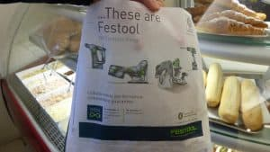 Festool sandwich bag advertising