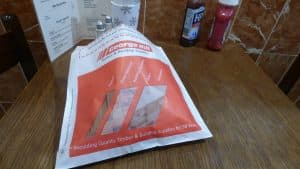 George Hill Timber & Building Supplies sandwich bag advertising