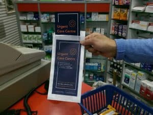 HCA Healthcare pharmacy bag advertising
