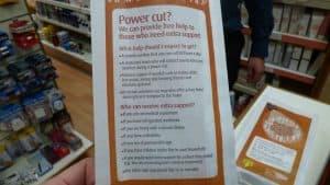 UK Power Networks pharmacy bag advertising