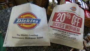 Dickies Sandwich Bag Advertising