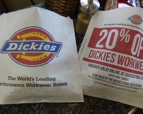 Dickies Sandwich Bag Advertising
