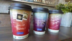 Elizabeth Klehfoth Penguin Coffee Cup Advertising