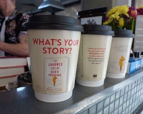 Molly Flat Pan Macmillan Coffee Cup Advertising
