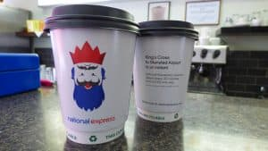 National Express Coffee Cup Advertising