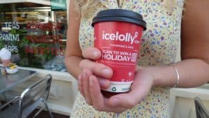 Icelolly Coffee Cup Advertising