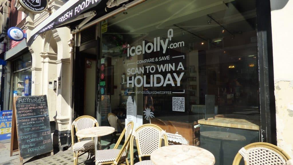 Icelolly Window Vinyl Coffee Shop Advertising