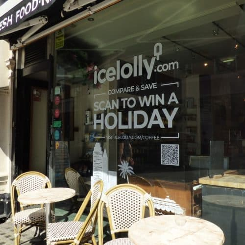 Icelolly Window Vinyl Coffee Shop Advertising