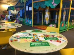 LEGO Duplo Coffee Shop Tablewrap Advertising Tabletalk Media