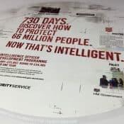 MI5 Recruitment Campaign on Tablewraps in Uni's