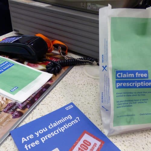 NHS England Pharmacy Bag Advertising
