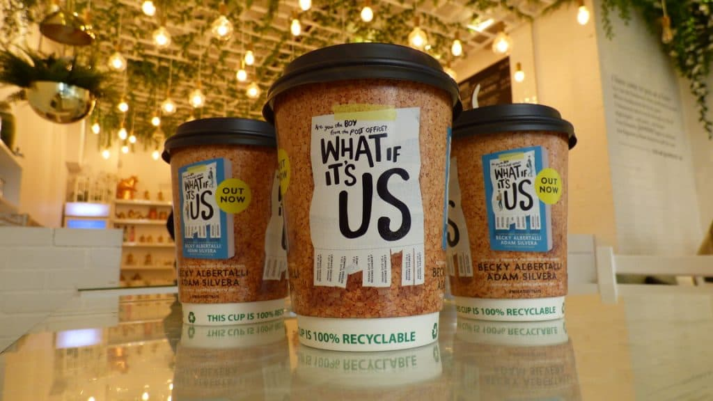Simon & Schuster Coffee Cup Advertising Tabletalk Media
