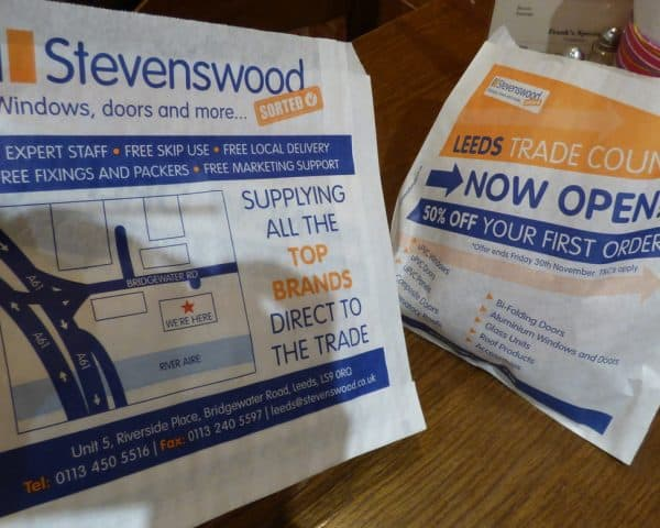Stevenswood Butty Bag Advertising Tabletalk Media