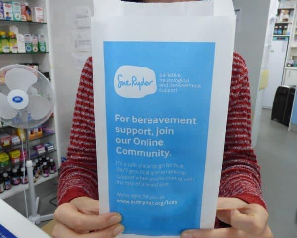 Sue Ryder Pharmacy Bag Advertising Tabletalk Media