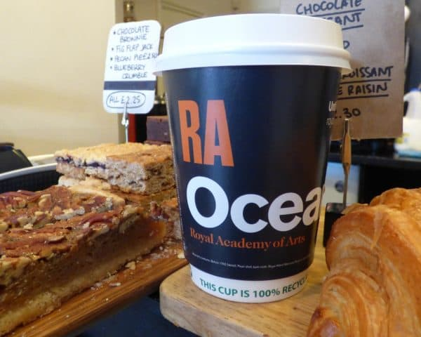 Royal Academy of Arts Coffee Cup Advertising