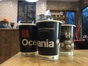 Royal Academy Coffee Cup Advertising