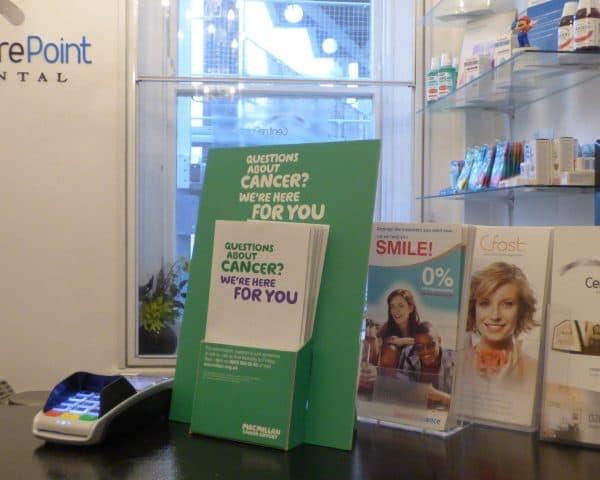 Macmillan Cancer Dental Practice Leaflet Campaign
