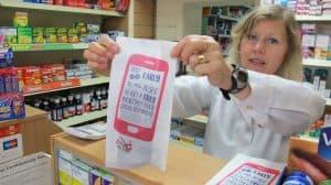 Coppafeel! Pharmacy Bag Advertising