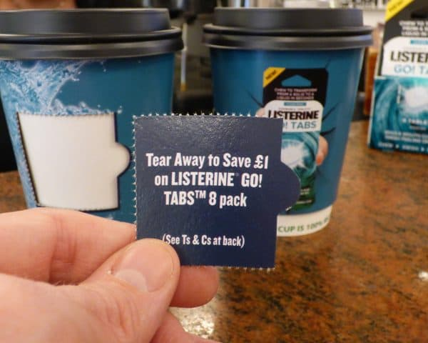 Listerine Coupon Cups & Sampling