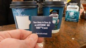 Listerine Coupon Coffee Cups and Sampling