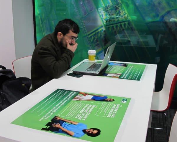 Lloyds Bank University Tablewrap Advertising