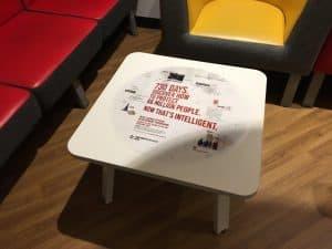 Security Service Mi5 Recruitment Campaign University Tablewraps