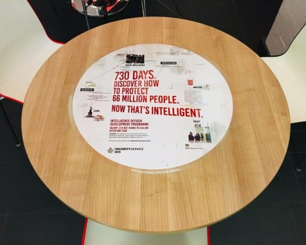 Security Service Mi5 Recruitment Campaign University Tablewraps