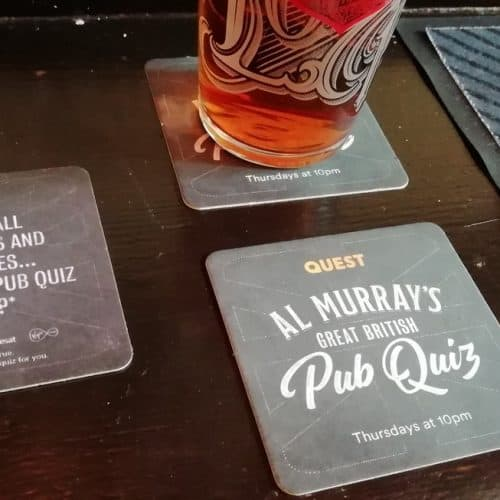 Quest Beer Mats Al Murray's Great British Pub Quiz